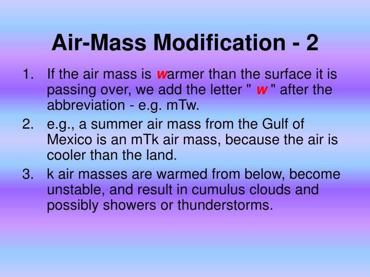 Air-Mass Modification - 2