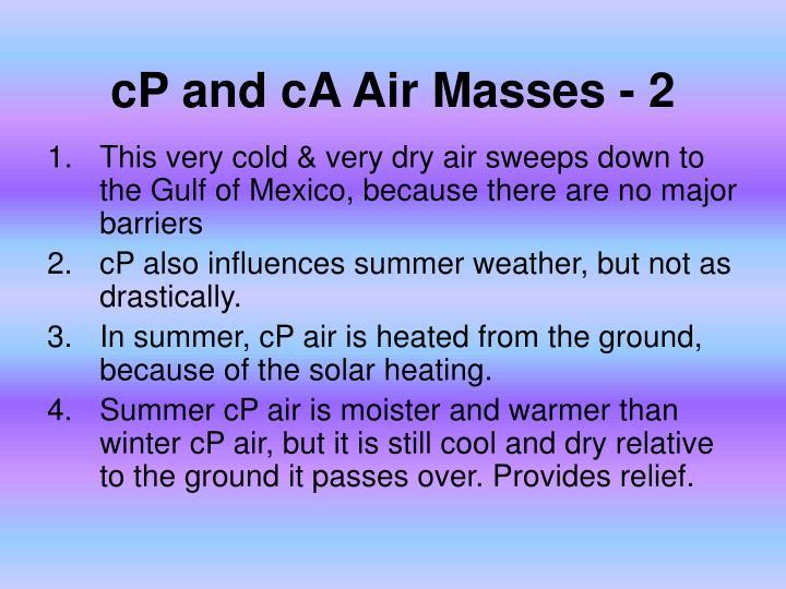 cP and cA Air Masses - 2