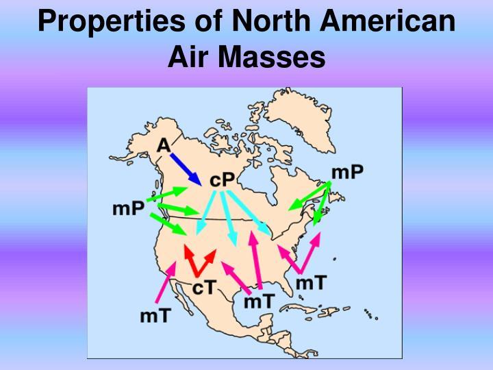 Properties of North American Air Masses