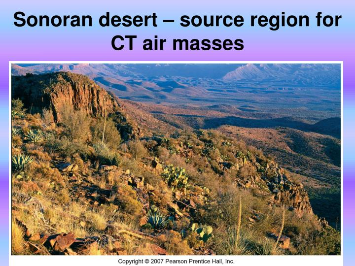 Sonoran desert – source region for CT air masses