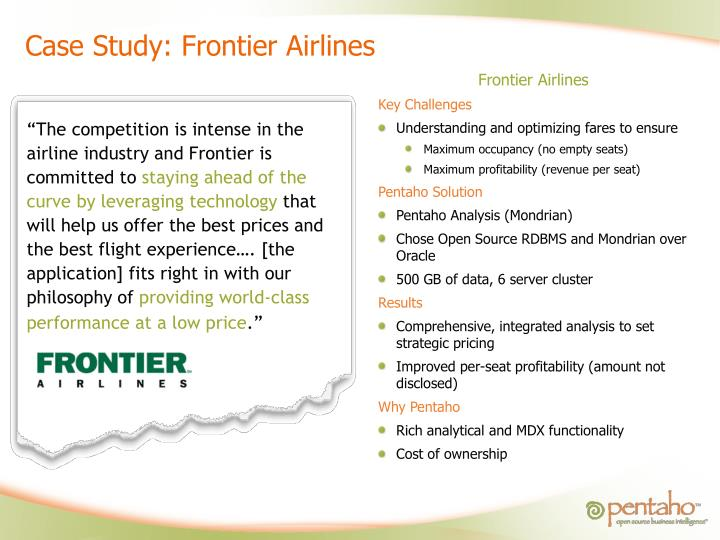Case Study: Frontier Airlines