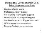 professional development in cips school improvement plans