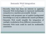 semantic web integration