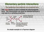 elementary particle interactions