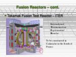 fusion reactors cont