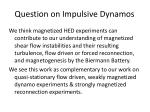 question on impulsive dynamos