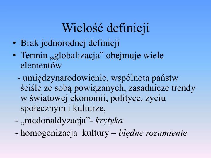 Wielo definicji