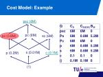 cost model example