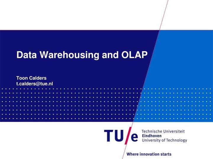 data warehousing and olap n.
