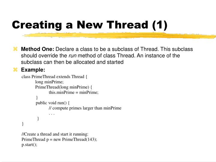 Creating a New Thread (1)