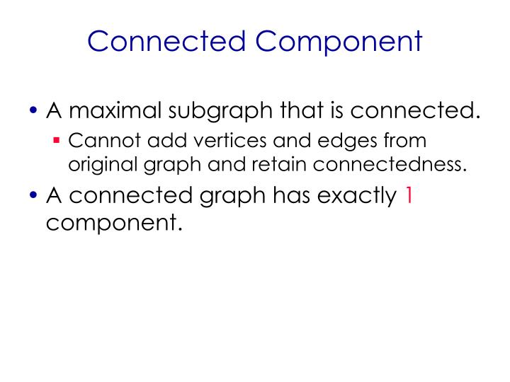 Connected Component