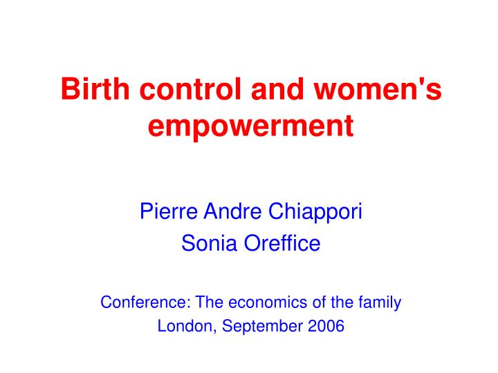 birth control and women s empowerment n.