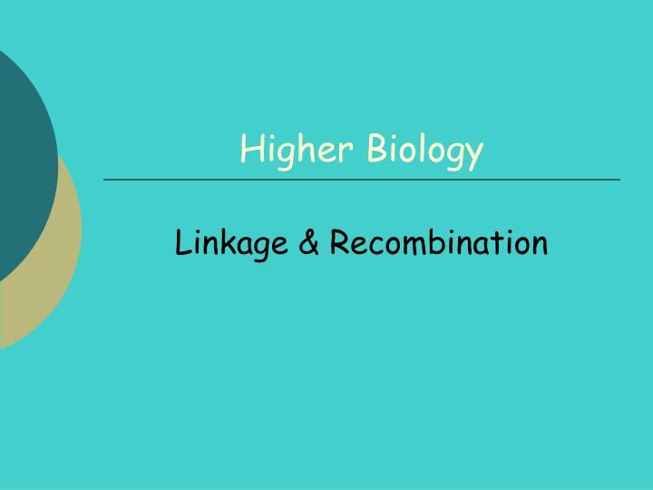 higher biology n.