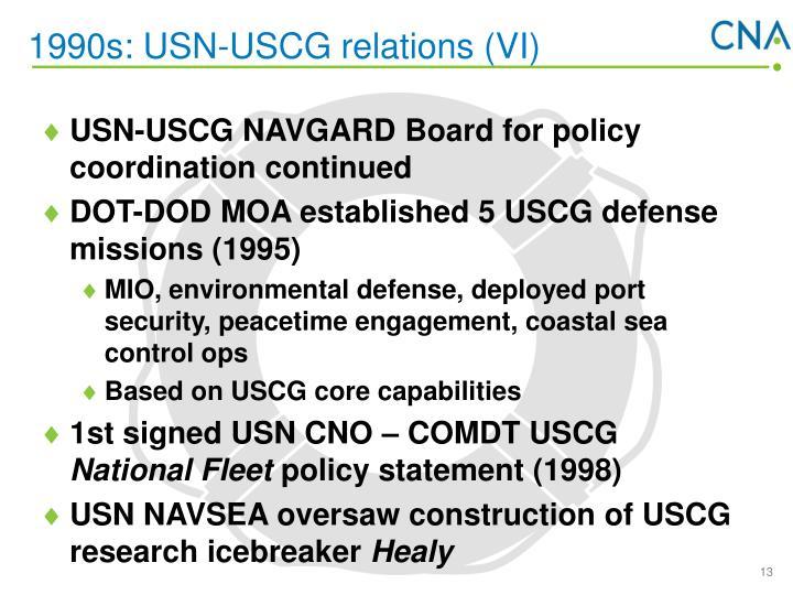 1990s: USN-USCG relations (VI)