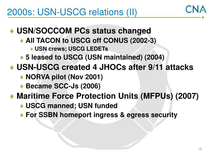 2000s: USN-USCG relations (II)