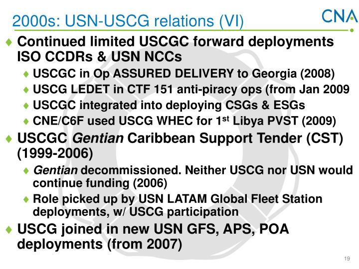 2000s: USN-USCG relations (VI)