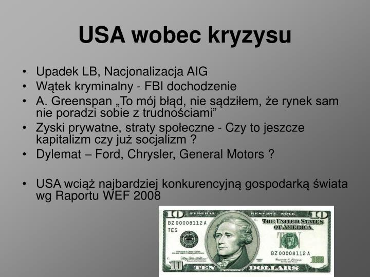 USA wobec kryzysu