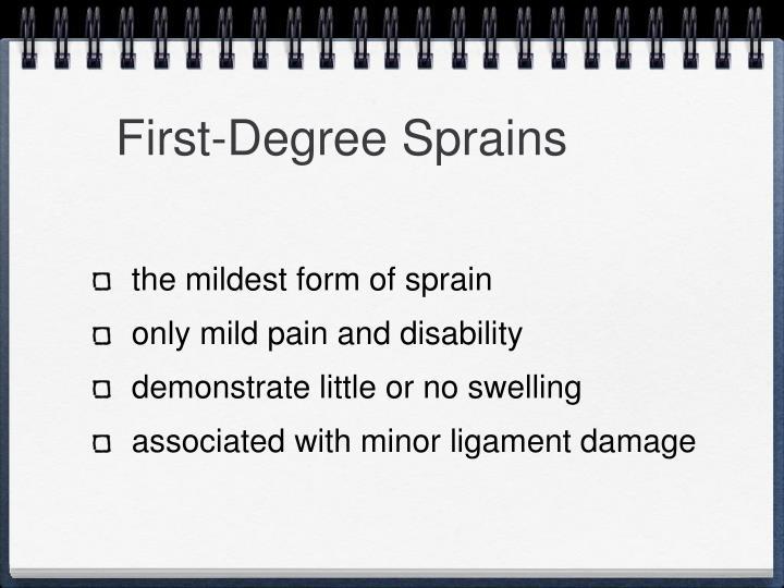 First-Degree Sprains