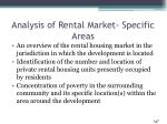 analysis of rental market specific areas