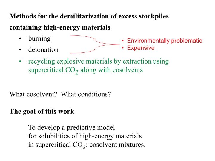 •  Environmentally problematic