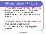 g wne rodzaje mpk c d
