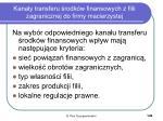 kana y transferu rodk w finansowych z filii zagranicznej do firmy macierzystej