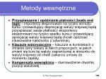 metody wewn trzne