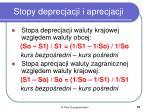 stopy deprecjacji i aprecjacji
