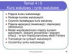 temat 4 i 5 kurs walutowy i rynki walutowe