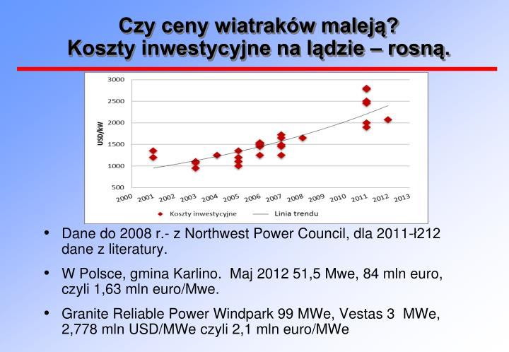 Czy ceny wiatraków maleją?