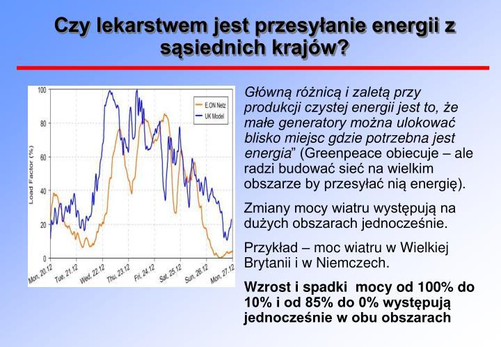 Czy lekarstwem jest przesyłanie energii z sąsiednich krajów?