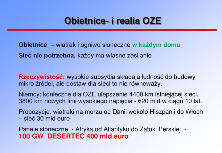 Obietnice- i realia OZE