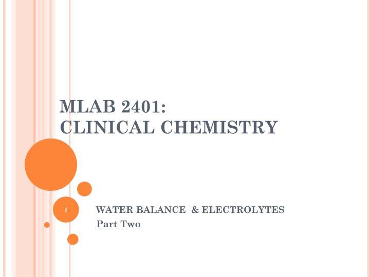 mlab 2401 clinical chemistry n.
