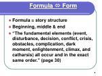 formula form