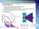 challenges of the di muon measurement