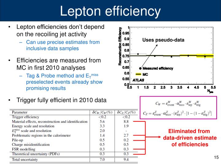 Lepton efficiency