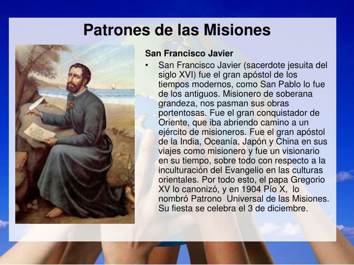 Patrones de las Misiones