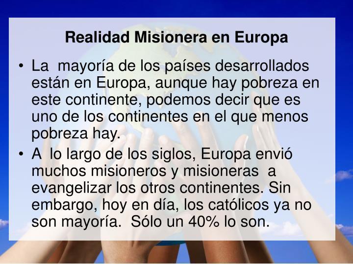 Realidad Misionera en Europa