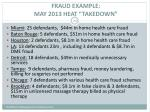 fraud example may 2013 heat takedown