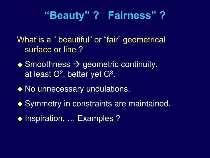 Beauty fairness