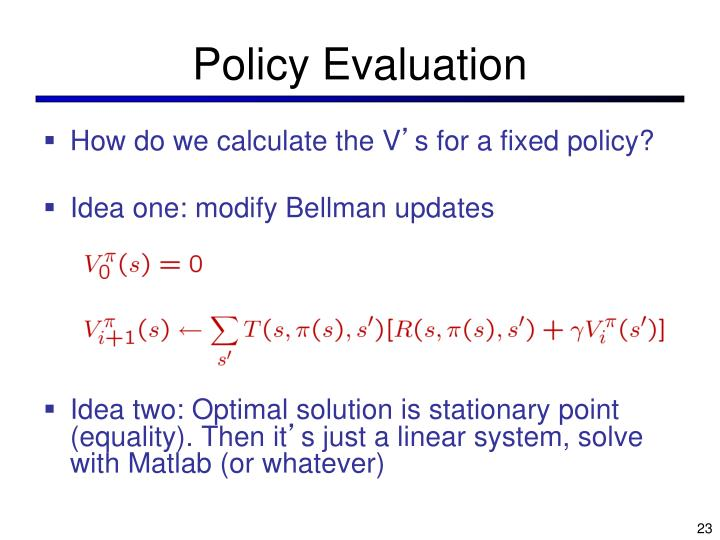 Policy Evaluation