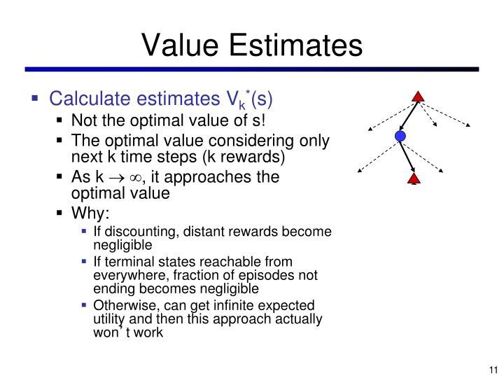 Value Estimates