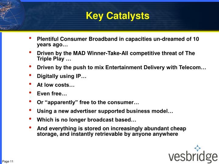 Key Catalysts