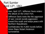 fort sumter april 12 th 18611