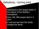 gettysburg turning point