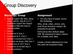 group discovery