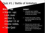 quiz 1 battle of antietam