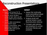 reconstruction presentations