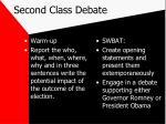 second class debate