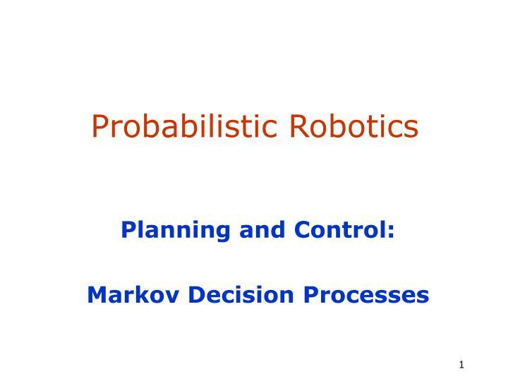 probabilistic robotics n.